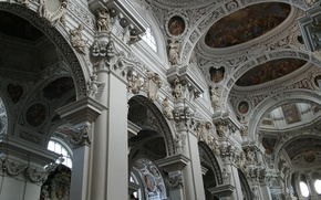 Картинка религия, неф, Собор Святого Стефана, Германия, Бавария, кафедральный собор, Пассау