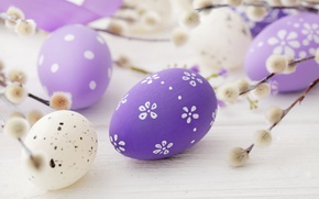 Обои весна, decoration, верба, pastel, Easter, Пасха, happy, яйца крашеные, spring, eggs