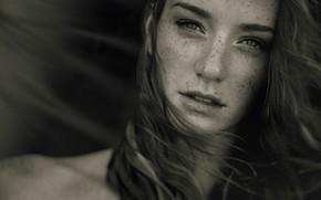 Картинка портрет, красавица, веснушки, photographer, Martin Tim