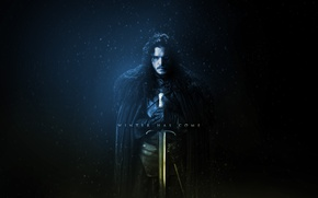 Картинка sword, blizzard, snow, man, ken, blade, A Song of Ice and Fire, Game of Thrones, …
