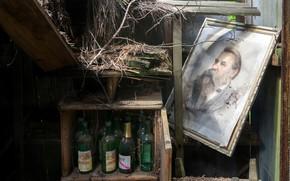 Картинка свалка, бутылки, Friedrich Engels