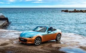 Картинка море, авто, Mazda, мазда, Italia, MX-5, Levanto