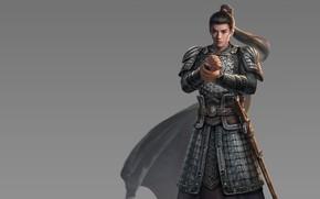 Картинка воин, арт, парень, fantasy, tian zi, 长城ol-熊军 The Great Wall