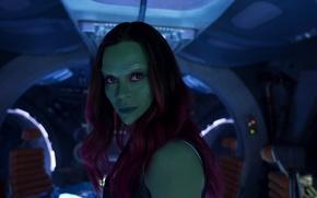 Картинка Зои Салдана, marvel, марвел, Zoe Saldana, Стражи Галактики, Gamora, Гамора, Guardians of the galaxy vol.2