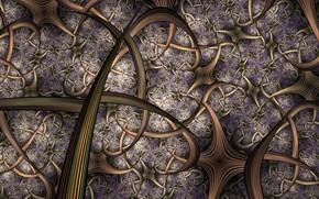 Обои абстракция, линии, узор