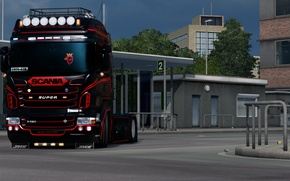 Картинка Power, Front, Scania, R620, Diesel, Face, Low, elsa3dany1design, EuroTruckSimulator, elsa3dany1, ERTY, ETS, Euro5, HighPipes, LowDeck, …