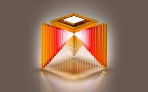 Обои абстракция, краски, конструкция, пирамида, куб, объем