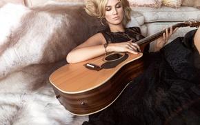 Картинка гитара, певица, Delta Goodrem