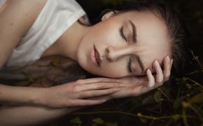 Обои lips, amazing, light, natural, beauty, милая, шатенка, симпатичная, Дарья Волкова, russian, cool, портрет, сон, young, ...