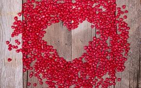 Картинка love, wood, romantic, hearts, sweet, valentine's day, валентинки, сердцечки