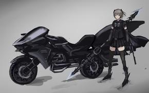 Картинка девушка, мото, аниме