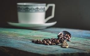 Картинка ложка, зёрна, coffe
