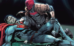 Картинка Red Hood, Bizarro, Jason Todd, rebirth, DC, outlaws, red hood and the outlaws