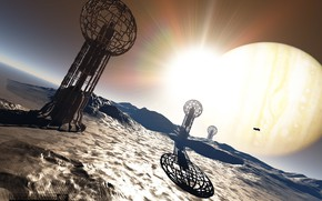 Картинка планета, сооружения, Faraday