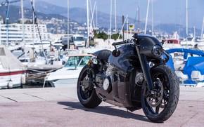 Картинка черный, Lotus, мотоцикл, лотус, black, bike, motorcycle, superbike, sportbike, Lotus C-01