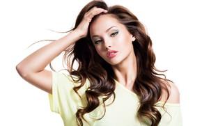 Картинка взгляд, Valua Vitaly, рука, жест, лицо, прическа, макияж, девушка, lips, модель