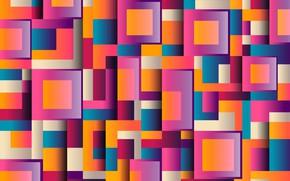 Обои абстракция, фон, квадраты, геометрия