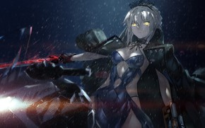 Картинка sword, armor, anime, ken, blade, warrior, oppai, Saber, Fate, japonese, Type Moon