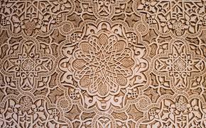 Обои орнамент, мастерство, мавританский узор, резьба по дереву, текстура