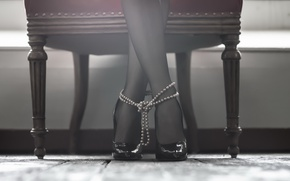 Обои девушка, фон, ноги