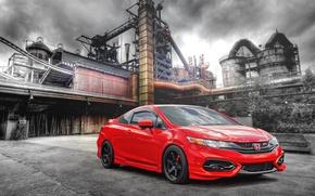 Картинка завод, красная, Honda Civic, Honda Civic Si