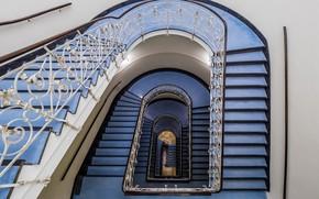 Картинка здание, ограждение, лестница, перила, ступени