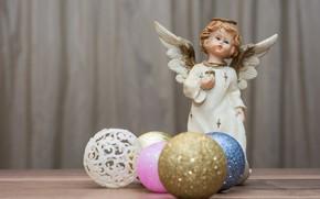 Картинка шары, игрушки, новый год, ангел