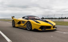 Картинка Ferrari, Yellow, Sport, FXXK