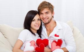 Картинка девушка, улыбка, романтика, сердце, чувства, пара, парень, влюбленные, heart, lovers, embrace, feeling, Valentines Day, день …