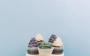 Картинка тарелка, крем, десерт, кексы, Cupcakes