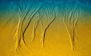 Картинка песок, узор, текстура