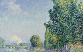 Картинка пейзаж, картина, Francis Picabia, Франсис Пикабиа, Приход Осени. Вильнёв-Сюр-Йонна
