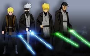 Картинка Star Wars, game, Naruto, anime, ninja, asian, jedi, manga, shinobi, japanese, Naruto Shippuden, oriental, asiatic, …