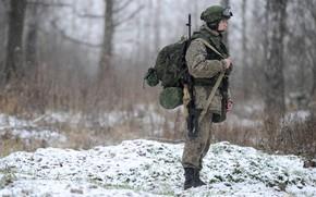 Обои оружие, дежурства, солдат, погода