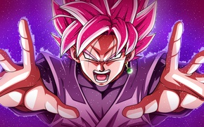 Обои game, anime, Black, powerful, super saiyan, Dragon Ball Super, Black Zamasu Goku, oriental, Kaioh, Black ...