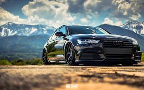 Картинка Audi, Авто, Черный, Ауди, Машина, Автомобиль, Передок, Audi A6, Немец, Mike Crawat Photography, Mike Crawat