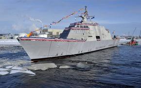 Картинка lead ship, USA Navy, USS Milwaukee, littoral combat, Freedom class, LCS-5