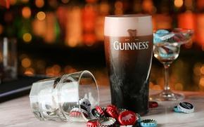 Обои бокал, Гиннес, пиво, напиток