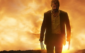 Картинка cinema, film, Logan, blood, X-Men, Hugh Jackman, Wolverine, fury, movie, angry, Marvel, man