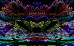 Картинка графика, цветная, контурная