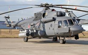Картинка вертолёт, ВВС России, Ми-8АМТШ
