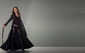 Картинка меч, актриса, Eliza Dushku, Элайза Душку