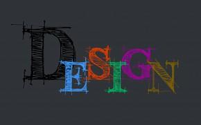 Обои дизайн, слово, буквы, design