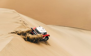 Картинка Песок, Красный, Mini, Спорт, Пустыня, Скорость, Rally, Dakar, Дакар, Ралли, Дюна, Buggy, Багги, X-Raid Team, …