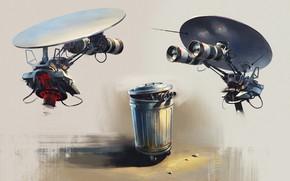 Картинка роботы, бак, concepts