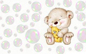 Картинка улыбка, пузыри, игрушка, малыш, арт, детская