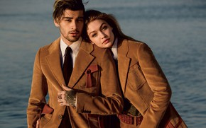 Картинка девушка, фото, модель, парень, влюбленные, красивые, vogue, Gigi Hadid, Zayn Malik