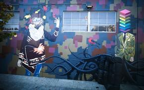 Картинка стена, граффити, рисунки на стене
