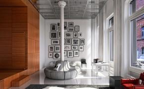 Картинка дизайн, помещение, колонна, White Street Loft