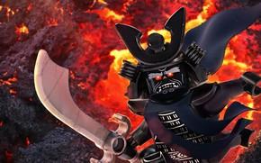 Картинка sword, armor, ken, Lego, blade, samurai, animated film, helmet, animated movie, shogun, The Lego Ninjago, …
